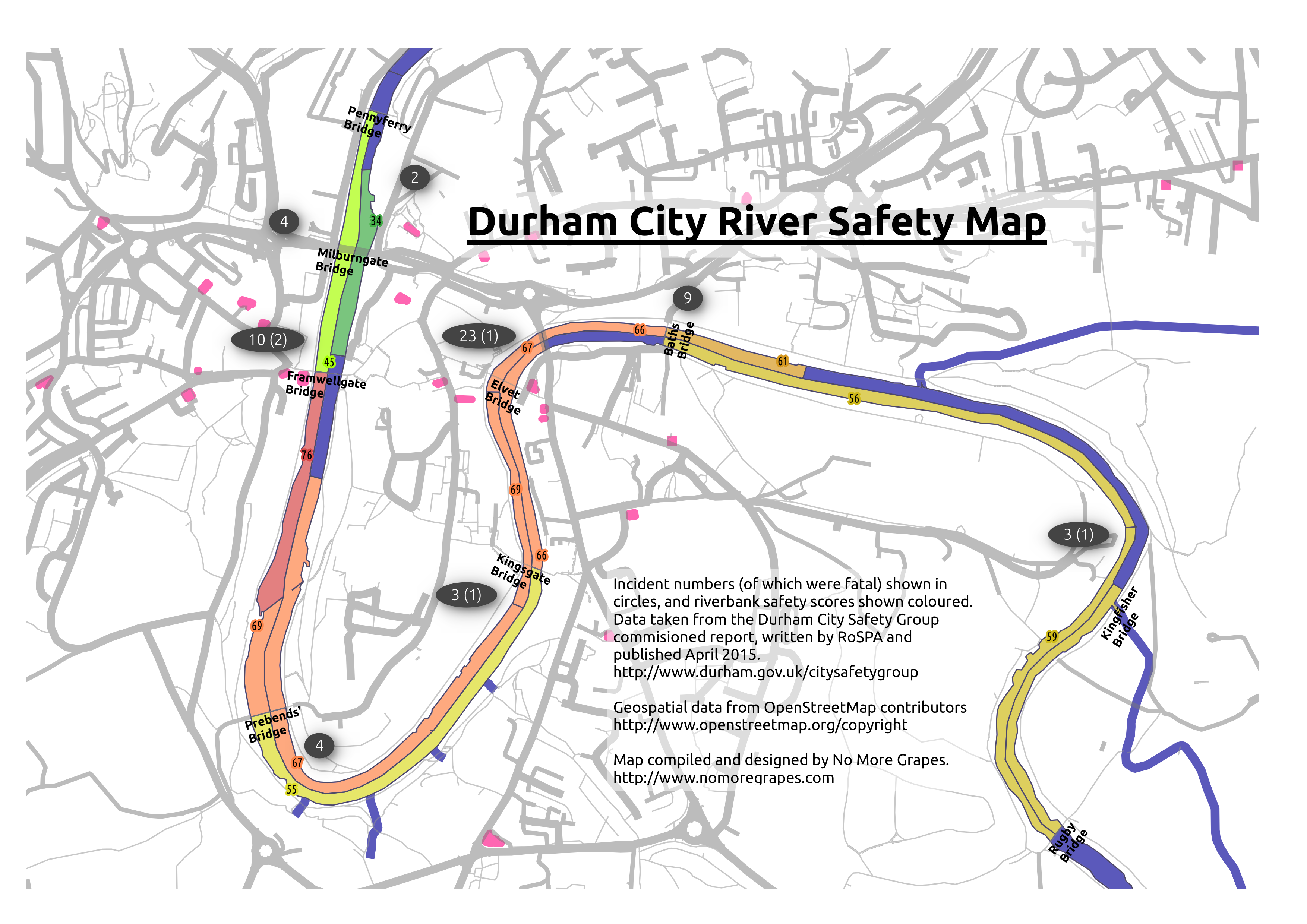 Local blogger produces Durham river safety map | The Bubble on springfield interchange map, end map, seattle to san francisco map, evacuation map, cad map, service map, art bus map, signal map, utility map, night market map, patent map, water supply map, traffic control map, mine rescue map,