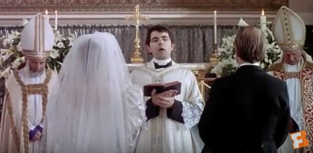 Screen Capture Of Four Weddings And A Funeral Trailer